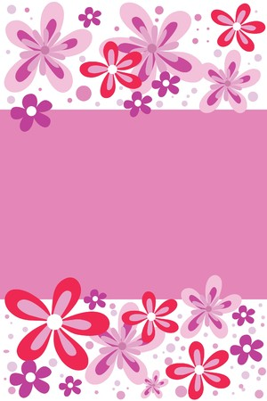 many beautiful flowers Illustration