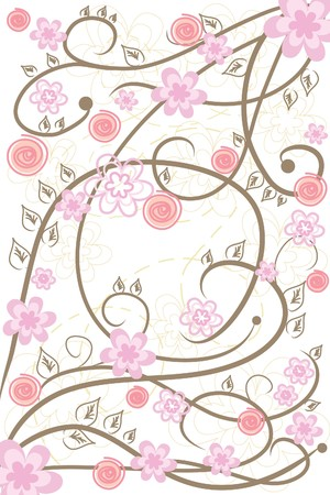 many beautiful abstract flowers on white background Stock Vector - 7792832