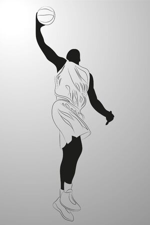 basketball player on white background (illustration) Stock Vector - 7830434