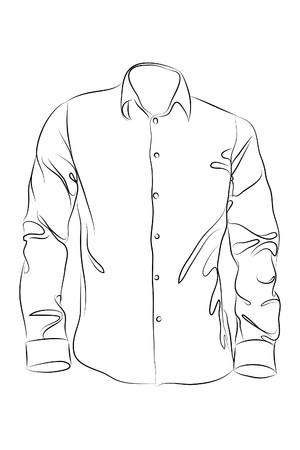 garment label:   black clothing on white background (illustration)