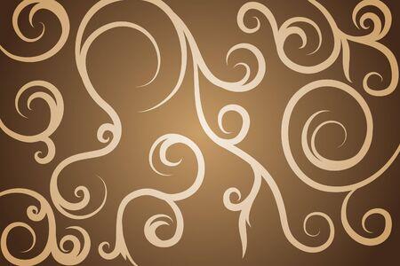kahverengi: Black pattern on brown background (illustration)