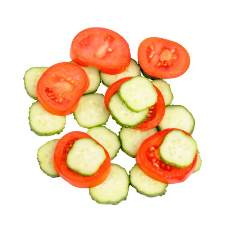 Yummy vegetables on white background (isolated, close up) Stock Photo - 7926143