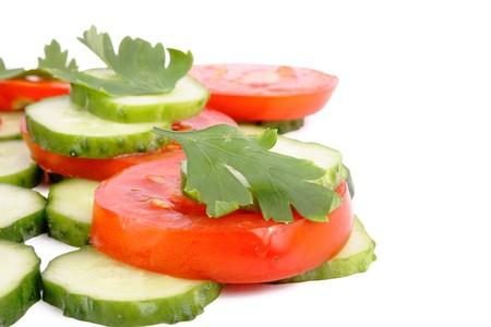 Yummy vegetables on white background (isolated, close up) Stock Photo - 7926148