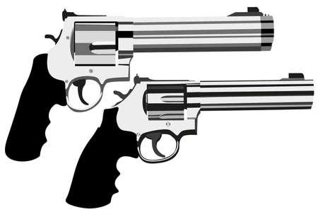 magnum: magnum revolver sur fond blanc (illustration) Illustration