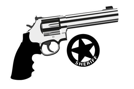revolver magnum on white background (illustration)