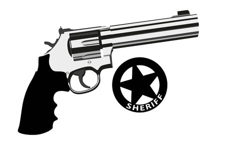 revolver magnum on white background (illustration) Vector