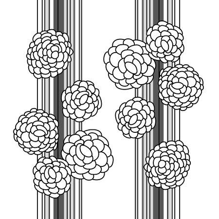 Black flowers on white background (illustration) Stock Vector - 8301661