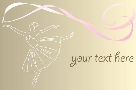 ballet dancer: dancing girl in a ballet pose  Illustration