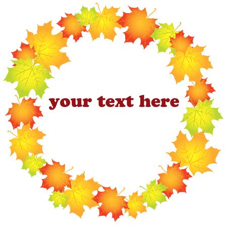 Beautifull autumn iilustration on white background Stock Vector - 8301970