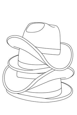 hats on white background Stock Vector - 8302103