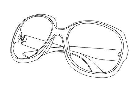 sunglasses on white background Stock Vector - 8302107