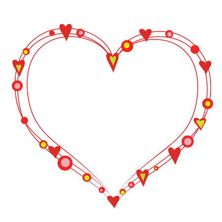 beautiful abstract heart from bright color circle