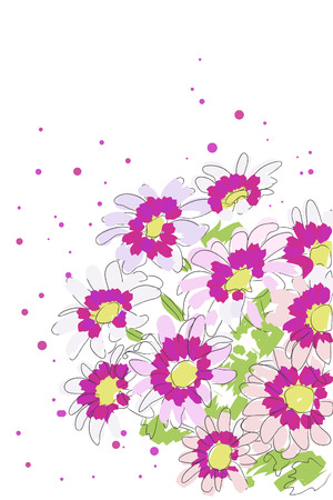 beautiful blossom watercolor chrysanthemum on white background  Vector