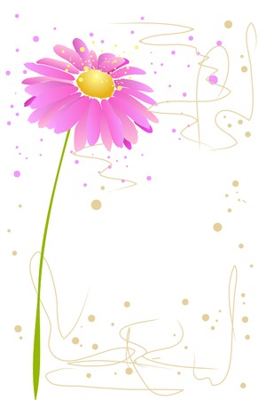 beautiful blossom watercolor pink flower  on white background Stock Vector - 8302188