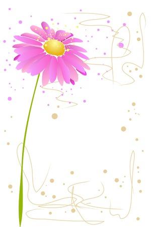 beautiful blossom watercolor pink flower on white background Vektoros illusztráció