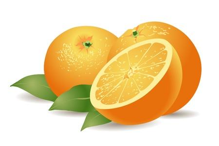 sliced fruit: orange