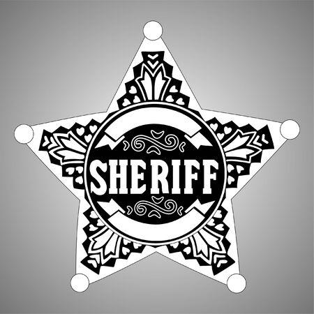 sheriff badge: Estrella de sheriff Vectores