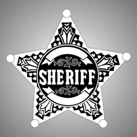 Sheriff star Stock Vector - 8815440