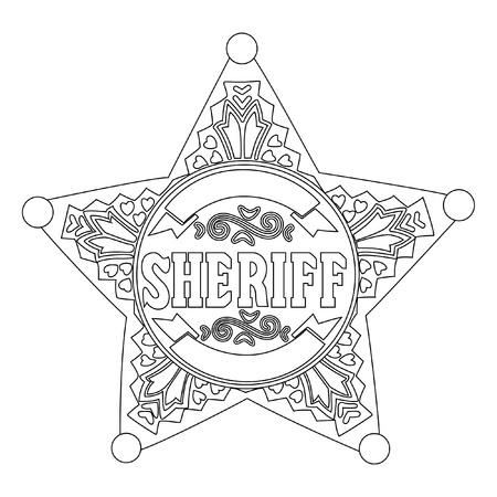 Sheriff star Stock Vector - 8815441