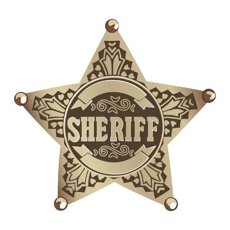 viejo oeste: Estrella de sheriff Vectores