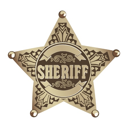 old west: Sheriff star