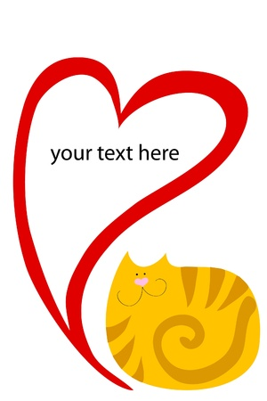 purr: striped cat with heart