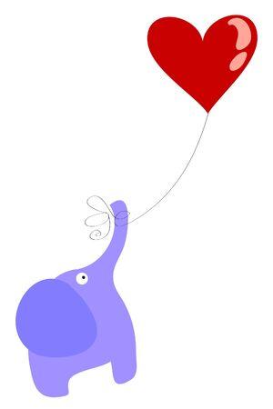 two love elephant Stock Vector - 8815516