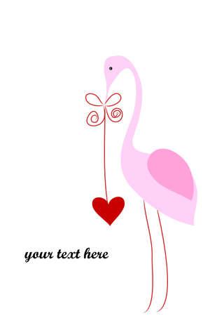 rosy: Flamingo Illustration