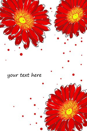 gerber flowers: red watercolor gerbera Illustration