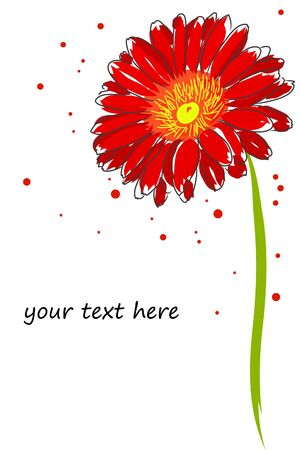 red gerber daisy: vector777-01(3).jpg