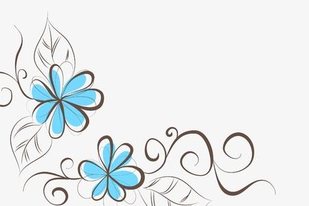 turq: Fondo floral