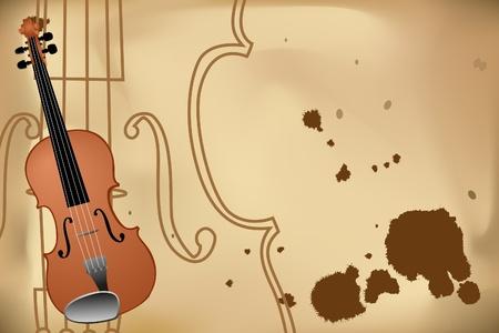 rehearsal: Vector illustration of violin