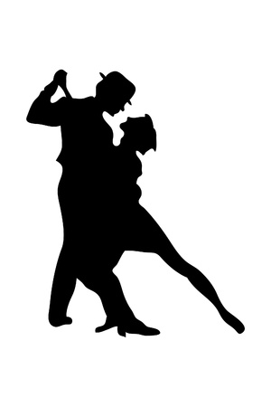 sexy man: dancing people Illustration