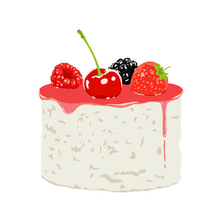 vector illustration of sweet food on white background Vector