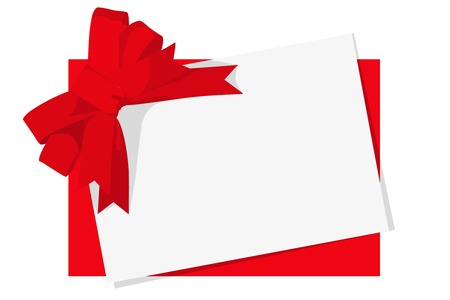 Red gift bow. Ribbon. on white bakcground Vector