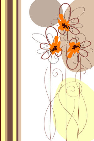 vertical garden: Cute butiful vector flower design on white background Illustration