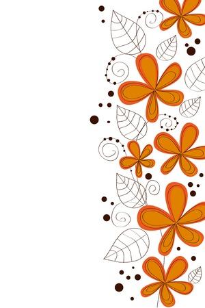 whimsical pattern: Cute butiful vector flower design on white background Illustration
