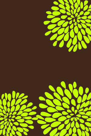 Cute butiful vector flower design on brown background Vector
