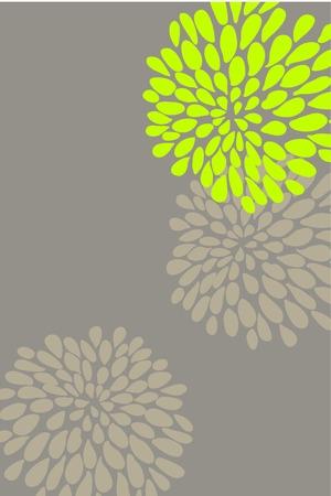 vertical garden: Cute butiful vector flower design on brown background