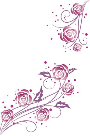 abstract floral: purple roses