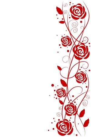 red roses Stock Vector - 9380626