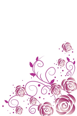 purple roses Stock Vector - 9380628