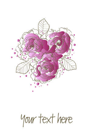 purple roses Stock Vector - 9404805