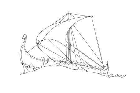 luxus: Viking Ship Illustration