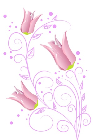 purple tulips Stock Vector - 9416489