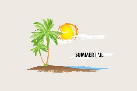 seacoast: tropical palm