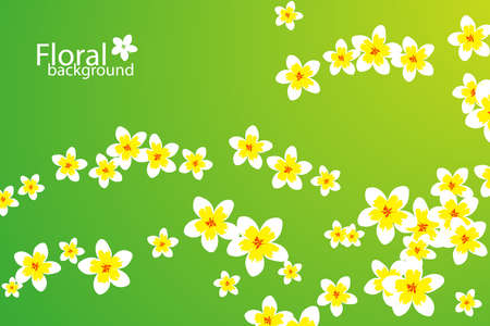 Beautiful floral background (some flowers on gradient background) Vector