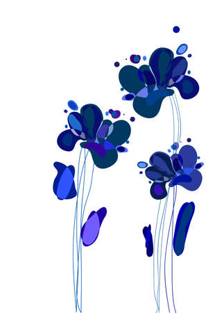 florid: Abstract background (abstract shapes on white background)