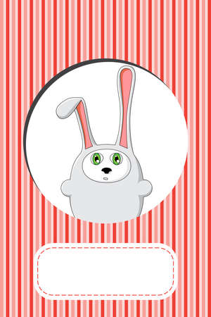 cute rabbit gift card design  Vector