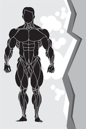 a strong man silhouette Stock Vector - 9550407